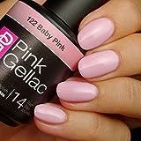 Smalto semipermanente Pink Gellac - 122 Baby Pink 15 ml LED UV GEL Rosa immagine
