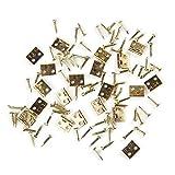 GAOHOU®Hi-elec 20Stück DIY Möbel Kleiderschrank Puppenhaus Zubehör Gold Mini Scharniere Schrank