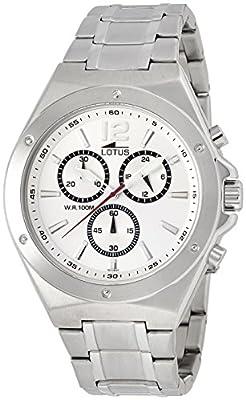 Lotus 10118_1 - Reloj Analógico Para Hombre, color Blanco/Gris de Lotus