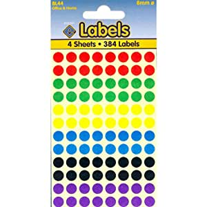 Assorted Dots Stickers 8mm