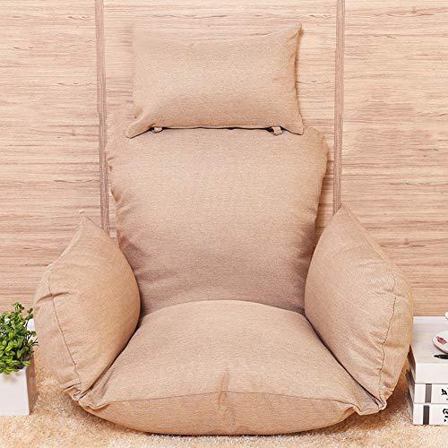 GWW Waschbares Hängeegg Hängematte Stuhl-Pads,Dicke Nestschaukel Sitzkissen Solide Farbe Rockt Stuhlkissen Mit Kissen-a