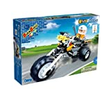 Banbao - 140 Piece Police Motorbike Compatible with the Leading Brand - Boy Boys Child Kids - Create Your Own World of Imagination - Construction Toy Perfect for Birthday