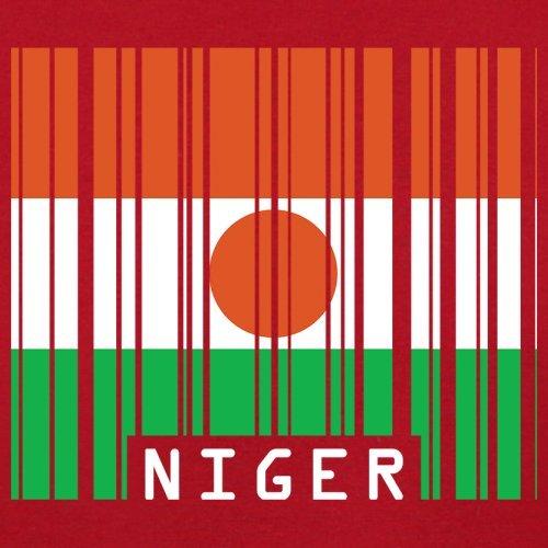Niger / Republik Niger Barcode Flagge - Herren T-Shirt - 13 Farben Rot