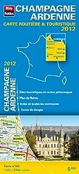 Champagne - Ardenne, Carte Routière Régionale Touristique N°105. Plan du centre-ville de Reims - Echelle : 1/200 000, avec index - Edition 2012