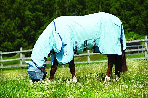 Horseware Rambo Sweetitch Hoody Vamoose Ekzemerdecke mit Gesichtsmaske Baby Blue/Navy 115-165 (165) -