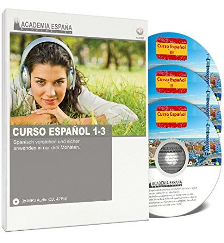 Curso-Espaol-I-II-und-III-Spanisch-lernen-fr-Anfnger-und-Fortgeschrittene-Audio-Sprachkurs