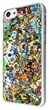 For All iphone 4 4S iphone 5 5S iphone 5C Cool Funky adventure time Cartoon Funny Design Fashion Trend Case Back Cover Metal and Hard Plastic Case-Clear Frame (Please Select your phone model from the drop box under) (iphone 5C)