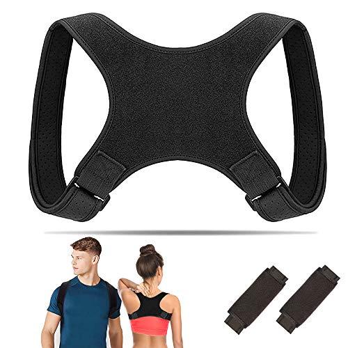 WeyTy Geradehalter zur Haltungskorrektur, Schultergurt Größenverstellbar Schulter Rücken Rückenstütze Haltungstrainer Corrector Posture für Damen Herren und Kinder (mit 2 Schulterpolster) (1)