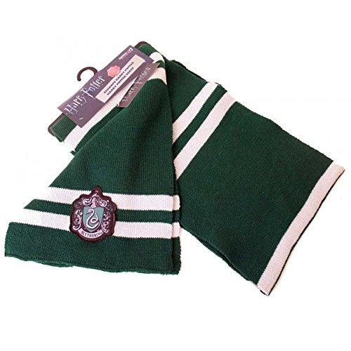 Harry Potter Scarf House Slytherin Emblem Patch Logo Official Green One Size