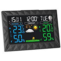 Weather Station by Epic Weather | Weather Stations with Outdoor Sensor Wireless | Weather-Station | Indoor Outdoor Thermometer | Weather Station with Outdoor Sensor | Home Weather Station