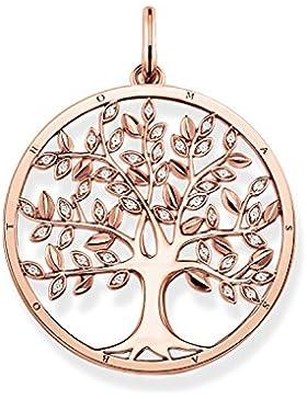 THOMAS SABO Damen Anhänger Tree of Love 925er Sterlingsilber; 750er Roségold Vergoldung Zirkonia Weiß PE759-416-14