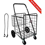 Transporter 1000 - Very robust 100% metal shopping trolley - 149L the largest shopping trolley ...
