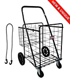 TRASPORTATORE 1000 - Molto robusto 100% Trolley per la spesa in metallo - 149L il più grande carrello della spesa nel mercato immagine