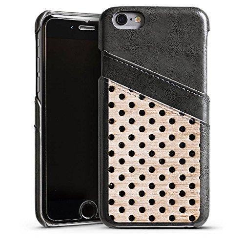 Apple iPhone 6 Housse Étui Silicone Coque Protection Bronze Tôle perforée Métal Étui en cuir gris