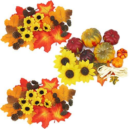 com-four® Künstliche Herbst-Dekoration zum Basteln [Auswahl variiert] (64 g Streudeko Herbst-Mix - Auswahl variiert)