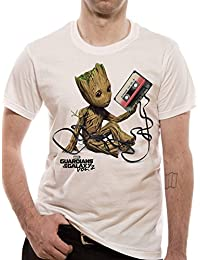 Cid Guardians Of The Galaxy 2.0 - Groot & Tape - T-Shirt - Homme
