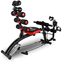 Inditradition 2 in 1 Six Pack Ab Care Exerciser with Inbuilt Pedal Cycle | Complete Home Gym, Black