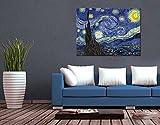 Klebefieber Leinwandbild Van Gogh - Sternennacht B x H: 100cm x 75cm