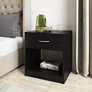 Amazon Brand - Solimo Mars Engineered Wood Bedside Table with drawer (Wenge Finish)