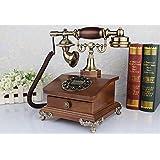 Telefon antiken europäischen Stil Retro Altertümlich Massivholz Rural Rotierende Scheiben Home Phone Festnetzanschluss ( farbe : # 3 )