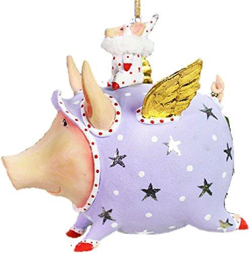 Lustige Fliegende Schweine (Krinkles Anhänger Fliegendes Glücksschwein Schwein mit Flügeln Tinkerbelle Patience Brewster)