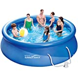 Summer Waves Fast Set Quick Up Pool 366x91cm Swimming Pool Familien Schwimmbad mit Filterpumpe
