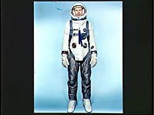 POSTER A3 NASA Gemini 9 configured extravehicular spacesuit assembly Description Test subject Fred Spross Crew Systems Division wears the Gemini 9 configured extravehicular spacesuit assembly.
