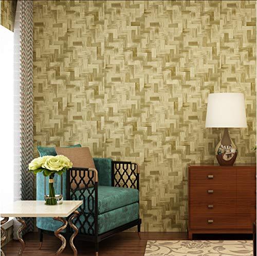 Ponana 3D Geprägte Bambus Tapete Moderne Nachahmung Matte Stroh Tapete Für Wände Wohnzimmer Studie Hintergrund Wandverkleidung Wohnkultur C-280X200Cm