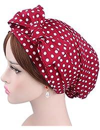 Moonuy Femmes Inde Musulman Stretch Rétro Imprimer Coton Turban Chapeau Tête  Écharpe Wrap Cap Flexible Bohême 6236e7c6fac