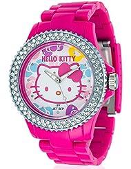 Hello Kitty Mädchen-Armbanduhr Uto Pink Red Analog Quarz Plastik JHK9904-22