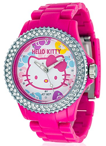 Jet Set Uto Pink Red - Reloj de cuarzo para niñas, color rosa