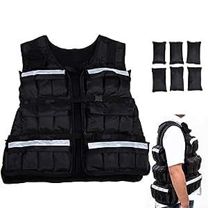Gilet lesté ajustable veste de poids pour la musculation 18kg 40lbs neuf 45