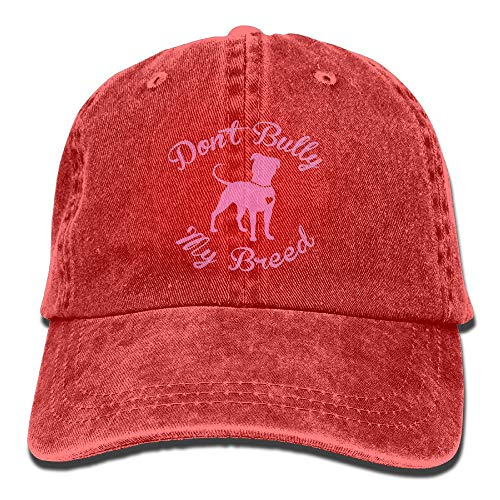 Desing shop Don't Bully My Breed Pitbull Vintage Washed Dyed Cotton Twill Low Profile Adjustable Baseball Cap Browning-twill Cap