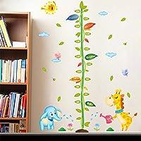 Vosarea Messlatte H/öhe Diagramm H/öhe Lineal Wachstum Wall Chart Aufh/ängen Herrscher f/ür Kinderzimmer Decor grau