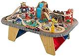 KidKraft 17498 Waterfall Junction Holzeisenbahn-Set & Spieltisch mit Aufbewahrungsbox für Kinder...