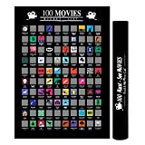 U&X Affiche de 100 Films à gratter, liste des Films de Tous Les Temps , Cadeau de Noël Ultime pour Tout Amateur de cinéma ou cinéphile...