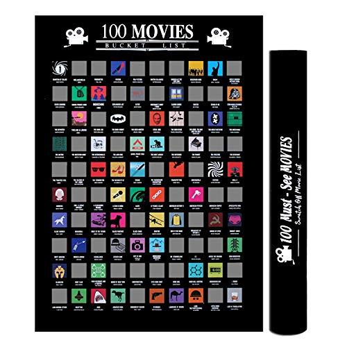 U&X Cartel rasca y GANA de 100 películas, Lista de Las Mejores películas de Todos los Tiempos, Cualquier Amante del Cine o cinéfilo