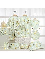 SHISHANG Caja de regalo de bebé 100% puro conjunto de regalo de algodón (17 conjuntos) (22 juegos) Ropa de bebé Niño niña cuatro estaciones para el bebé de 0-1 años de edad , 17 , A