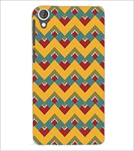 PrintDhaba Pattern D-5116 Back Case Cover for HTC DESIRE 820 (Multi-Coloured)