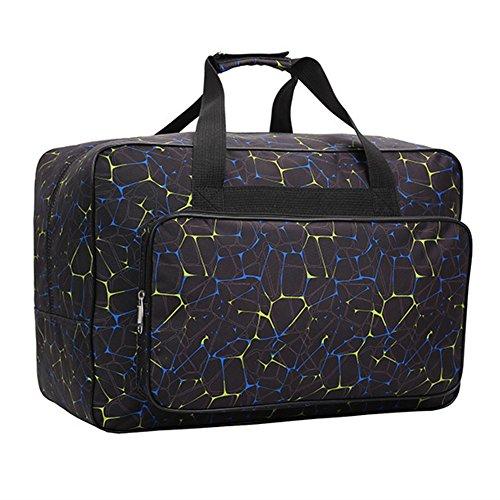 Homeyoo borsa per macchina da cucire, borsa di trasporto universale in nylon, custodia di trasporto universale imbottita per bagagli con tasche e maniglie (black)