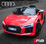 GetBest Audi R8 Spyder Battery Operated Kids Ride on Car with Remote (Red)