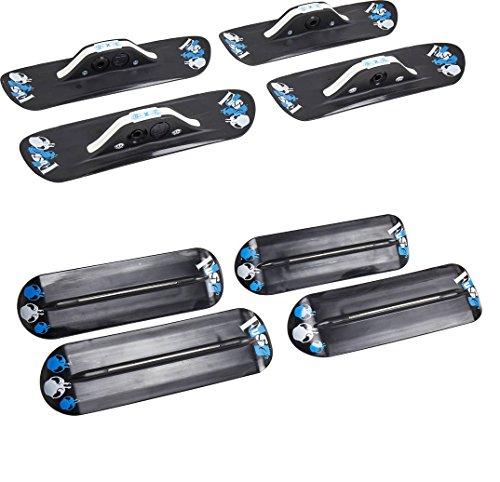 Fuse 4x4 Kufen Kit für Skateboard oder Longboard Snow-Skate Black