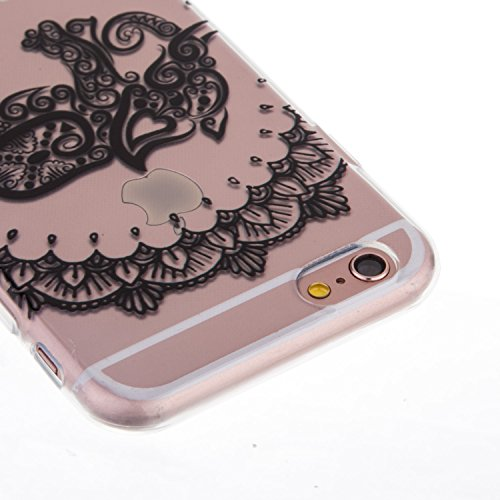 "iPhone 6S Coque,iPhone 6 Bling Case,iPhone 6S Cover - Felfy Ultra Mince Slim Gel TPU Silicone élégant Ultra Thin Bling Plating Case Coque Bumper Cas Housse pour Apple iPhone 6/6S 4.7"" (Losange Violet) éléphant"