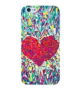 Heart Design 3D Hard Polycarbonate Designer Back Case Cover for Apple iPhone 6 Plus :: Apple iPhone 6+