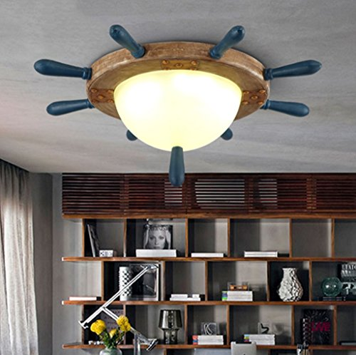 Global- Nordic Rétro Creative Salon Lampe Lampe De Plafond Luminaires Personnalité Art LED Résine Lampe