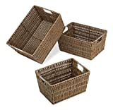 Best Whitmor Box Sets - Whitmor Distressed Rattique Storage Baskets Set of 3 Review