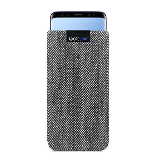 Adore June Samsung Galaxy S9 Hülle, Handytasche [Serie Business] Charakteristisches Material, Stofftasche Fischgrat-Stoff [Display-Reinigungseffekt] Galaxy S9 Case Sleeve