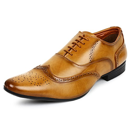 Buwch Men Tan Formal Brogue Shoe-9UK