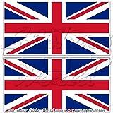 BRITISH UNION JACK Flag United Kingdom Britain UK 5,5' (140mm) Vinyl Bumper Stickers, Decals x2