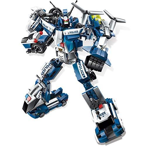 Gfone 6 in 1 Mini Giocattoli educativi del Blocchetto di Costruzione del Robot di deformazione di DIY Aerei
